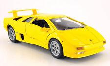 LAMBORGHINI DIABLO 1990 BURAGO 1/18 1:18 JAUNE BBURAGO ITALIA MODEL CAR yellow