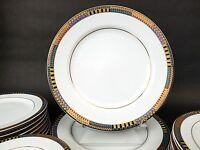"(1) PTS INTERIORS INT Ambassador Fine Porcelain Geometric Dinner Plate 10 1/2"""