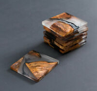 Wooden Coasters Epoxy Resin Coasters Wood, Elegant Stylish Coasters Gift