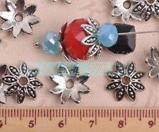 50pcs 16mm Tibetan Silver Charms Flower Bead Caps Jewelry Making Spacer Beads
