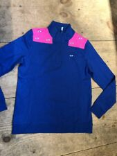 Vineyard Vines Women's Shep Shirt 1/4 Zip whale embroidered shoulder medium $125