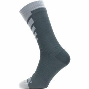 SealSkin Socken Warm Weather Mid Length Gr.L 43-46 wasserdicht grau Fahrrad