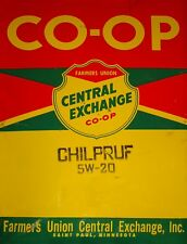 """TIN SIGN """"Co-Op Red Yellow""""   Gas-Oil   Signs  Rustic Wall Decor"""