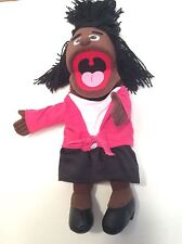 Silly Puppets Black African American Girl Ventriloquist Toy 15""
