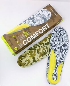 New! Superfeet Sz F High Mileage Trail Insoles Spring Summer Trophy Series Camo