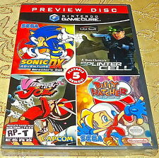 NES NINTENDO GameCube SYSTEM GAME Preview Disc Nintendo NEW SEALED Zelda Sonic