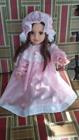 """18"""" Doll Clothes Vintage Pajamas Nightgown Bonnet Outfit fits American Girl Doll"""