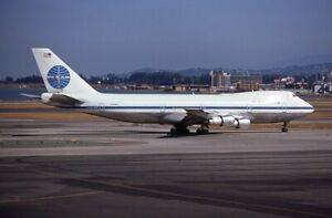 Pan Am Boeing 747-100 old colors N732PA 1974 - Kodachrome 35mm slide
