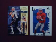 Tom Brady Rookie RP Reprint 2000 Playoff Contenders Ticket Auto + UD SP 12/1250
