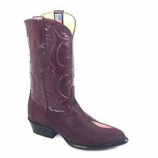 LOS ALTOS BURGUNDY STING RAY BOOT NEW J STYLE # 1 99 12 06 SIZE 9, 11.