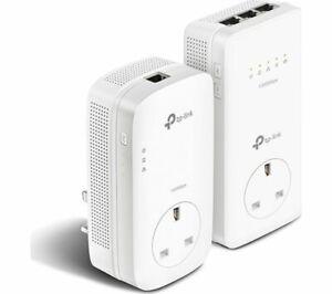 TP-LINK AV1300 TL-WPA8630P KIT Passthrough Powerline Starter Kit - White