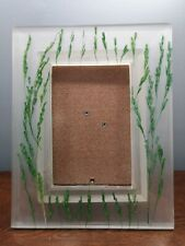 Green rice stalks picture frame 4x6 hand cast in Thailand