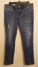 Kut From The Kloth Catherine Boyfriend Distressed Denim Jeans Size 10 Womens