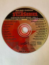 SOUND CHOICE KARAOKE STAR SERIES - ULTIMATE PARTY SONGS - USED - RARE - LOT 415