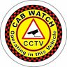 2 Cab Watch Taxi signs self adhesive vinyl stickers Minicab Notice decal