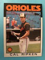 1986 Topps #340 Cal Ripken Jr. Baseball Card, Baltimore Orioles   (GL)
