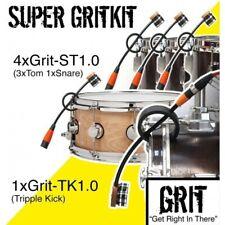 Grit Super-Kit, 4xST1.0 drum microphones and 1xTK1.0 tripple bass kick mic.