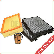 BMW 5er E39 520i 523i 525i 528i 530i Aktivkohle Filterset Inspektionspaket 3-tlg