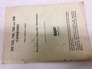 MASSEY FERGUSON MF 520, 740, 750, 760 COMBINES NEW PROFILE TABLE BOOKLET