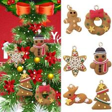 uk 6pcs christmas tree hanging gingerbread man ornaments cute xmas decor pendant