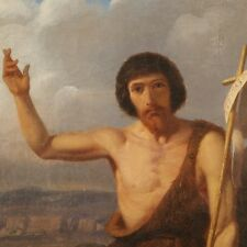 Huile sur toile de Hippolyte BRUYERES de 1842 - Saint Jean Baptiste
