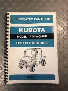 KUBOTA RTV X900TUK ILLUSTRATED PARTS LIST UTILITY VEHICLE