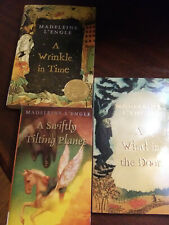 Madeleine L'engle 1-3 Wrinkle in Time, Swiftly Tilting Planet, Wind in the Door