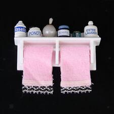 1/12th Miniature Bathroom Bath Products Makeup Furniture on Shelf Set Accessory