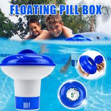 Floating Chlorine Dispenser Pill Box Cleaner Chemical Fit Spa Tub Swim Pool Hot