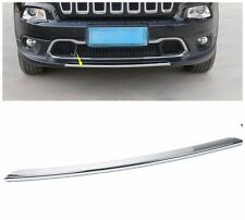 Chrome Front Bumper Lid Decorative Cover Trim  For Jeep Cherokee 2014 - 2016