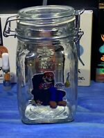 Mario Glass Latch Top Jar Apothecary Prescription Weed Smell Proof