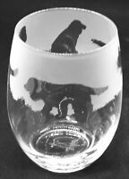 COCKER SPANIEL Frieze Boxed 36cl Crystal Stemless Wine / Water Glass