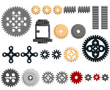 x25 Lego Gears SAMPLE Kit 2   (ev3,bevel,motor,spur,cogwheel,differentia,car)