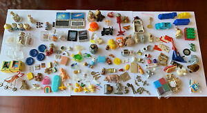 Vintage Collection 1970s 1980s & Older Miniature Doll House Accessories lot 100+