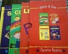 4 x Emily & Joe sparkle children's books Colours,numbers,letters,shape,boxed set