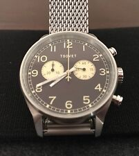 Tsovet Swiss Movement Chronograph Precision Timepiece 40mm Watch NWOT Svt-de40