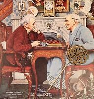 VTG Norman Rockwell Art Print Saturday Evening Post HALLOWEEN & OTHER HOLIDAYS