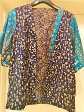 SILK KIMONO JACKET, 2 way Reversible SAREE Kimono Jacket