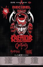 "KREATOR / OBITUARY ""DECIBEL MAGAZINE NORTH AMERICA TOUR 2017"" CONCERT POSTER"