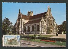 France Mk 1969 Église de Brou Iglesia Church maximum mapa maximum card mc cm d171