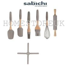 SILICONE KITCHEN UTENSILS WHISK SPATULA FLAT & ROUND BRUSH ROLLING PIN COOKWARE