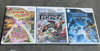 Wii Video Game Lot Of 3 Games - All Are Tested And Complete