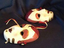 Asahi  Ceramic Mask  Porcelain Mardi Gras Lady Wall Decor