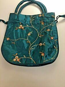 Women's Multi-Purpose Drawstring Personal Travel Storage Bag Pouch Purse Green