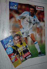 FOOTBALL DROIT AU BUT N°15 1999 OLYMPIQUE MARSEILLE OM DUGARRY ISSA PORATO PIRES