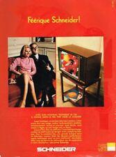 I- Publicité Advertising 1968 Téléviseur Television Schneider 56 cm