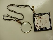 """Eye Candy"" Brass Magnifying Glass Necklace by Ohbon Vintage, Artist made"