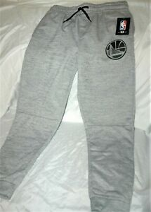 Golden State Warriors sweatpants YOUTH large New with tags gray NBA $60 retail