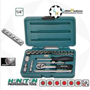 "Socket Set 1/4"" Quick release 20pcs HONIDRIVER Tech CrV Steel Honiton H1120"