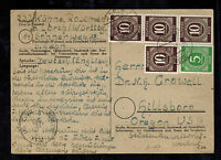 1947 Lorch West Germany Postcard Cover to Hillsboro Oregon USA